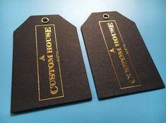300 printed clothing labels hang tags custom clothing paper ...
