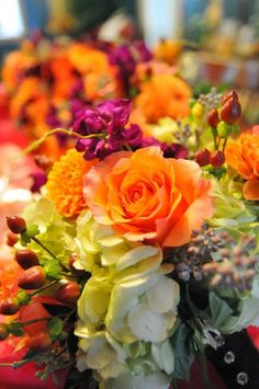 The perfect palette of Fall wedding flowers