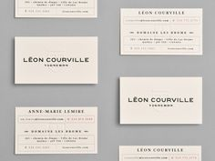 Blind embossed business card for wine producer Léon Courville Vigneron / boutique Embossed Business Cards, Elegant Business Cards, Unique Business Cards, Business Card Design, Creative Business, Company Business Cards, Business Card Maker, Business Branding, Letterhead Template
