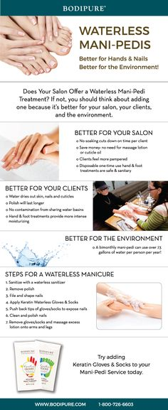 Try a Waterless Manicure or Pedicure Treatment! Better for Hands & Nails  Better for the Environment! Read more