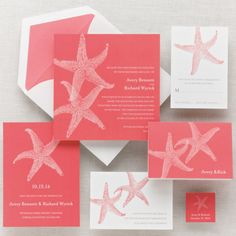 Imperial Starfish Wedding Invitation - Beach Wedding Invitations