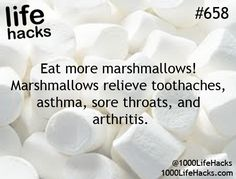 Hmmmmmm....toothaches???? But then they will give you cavities and then you will need more marshmallows. Vicious cycle
