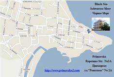 www.primorsko2.com/bulgarien.html    >>  Das    Ferienenhaus    ist ein ruhiger, cosy Platz ca. 50 Meter von ein attraktives Halbinsel im östlichen Teil von Primorsko aufgestellt. Der Strand zum Norden ist ein Weg fünf Minuten und der südliche Strand nur einige Minuten mehr.   Das Ferienhaus ist eine ideale Position, der vollkommene Erholungsort, sehr attraktiv zu den Eltern mit Kindern, es bietet das vollständige Familie Musterfeiertagsbedingungen, das warme und saubere Wasser Black Sea, Strand, Html, Map, Holiday, Bulgaria, Recovery, Holidays, Cottage House
