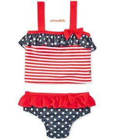 cf79c90205 baby swim suit Tommy Hilfiger Swim Set Red White Blue Toddler size 24 months  new