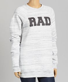Look what I found on #zulily! White 'Rad' Marble Sweatshirt - Women & Plus by TROO #zulilyfinds
