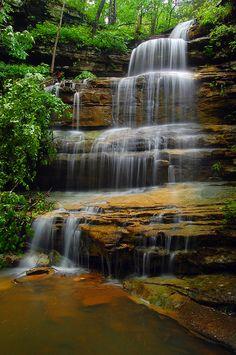 Liles Falls, Buffalo National River Wilderness, Arkansas; photo by Paul Martin