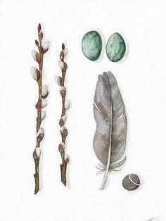 Original Watercolor Print Fine Art Illustration by lorisworld, $15.00