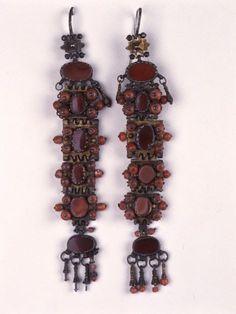 Epirus, Ioannina, c. Greek Jewelry, Ethnic Jewelry, Jewellery, Pli, Folk Art, Weaving, Beaded Bracelets, Drop Earrings, Costumes