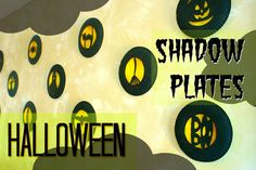 Kids Halloween Crafts: Shadow Plates | Two Kids Cooking and More