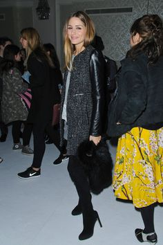 Olivia Palermo - Antonio Berardi  Front Row - London Fashion Week AW14 Olivia  Palermo Street 048be490f23b