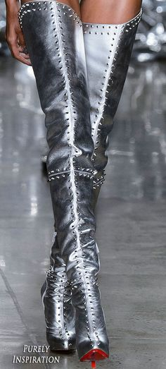 The Blonds Women's Fashion Purely Inspiration Thigh High Boots, High Heel Boots, Over The Knee Boots, Heeled Boots, Bootie Boots, High Heels, Leder Boots, Mode Costume, Long Boots