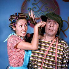 Dona Florinda (Florinda Meza) e Chaves (Roberto Bolaños).