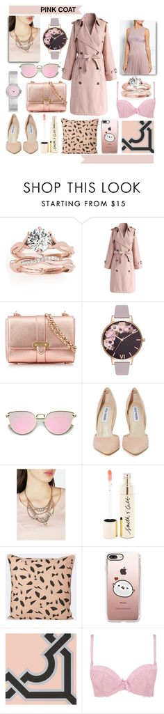 """I Pink your Coat looks Great"" by numbsunday ❤ liked on Polyvore featuring Allurez, Chicwish, Aspinal of London, Olivia Burton, Steve Madden, JustFab, Smith & Cult, ferm LIVING, Casetify and Boohoo"