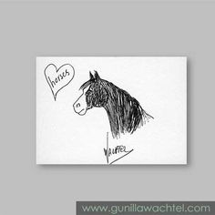 Daily Drawing 35 - ACEO horse sketch