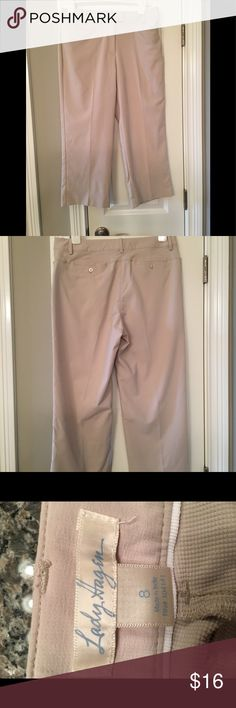 Lady Hagen khaki Capri golf pants.  Size 8.  EUC Lady Hagen lightweight golf pants.  Light tan color.  Excellent condition. Lady Hagen Pants Capris