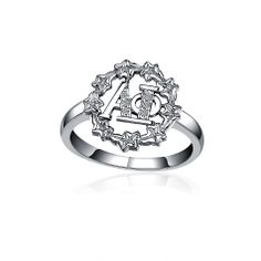 Alpha Phi Jewelry: Ivy Leaf Silver Ring