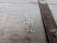 Bee dangle earrings Sterling silver bee earrings Animal by CyKLu, $55.00