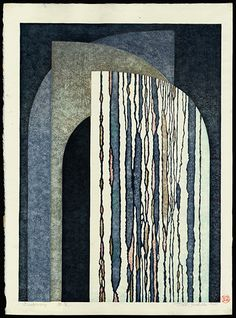 Yoshida, Toshi,  Discovery 1968 woodblock 19 1/2 x 14 1/4 inches Floating World Gallery LOT:170 Auction: 10/19/2013