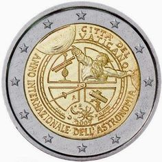 2 euro coins Vatican City 2009, International Year of Astronomy