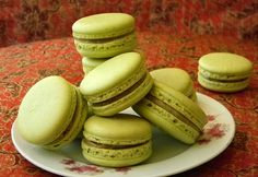 Pistachio Macarons by indomacarons, via Flickr