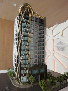 Maquette Architecture, Architecture Model Making, Office Building Architecture, Plans Architecture, Concept Architecture, Futuristic Architecture, Residential Architecture, Amazing Architecture, Building Design
