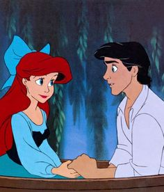 pictures of ariel and eric kissing on the boat | Ariel and Eric in 'The Little Mermaid' (1989)
