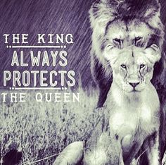The king ALWAYS protects and STANDS UP for his queen ! I love my king ❤️
