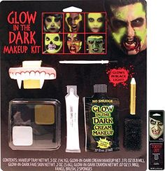 2018 Potomac Banks Glow-in-the-Dark Family Makeup Kit with Free Pack of Makeup and more Accessories / Kits for Women's Costumes, Women's Halloween Costumes for Vampire Costumes, Halloween Costumes, Dark Makeup, Makeup Kit, The Darkest, Glow, Packing, Banks, Free