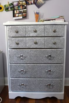 Glitter Dresser On Pinterest Glitter Furniture Glitter