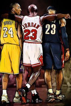 Kobe Bryant Lebron James, Kobe Bryant Michael Jordan, Kobe Lebron, Michael Jordan Basketball, Michael Jordan Art, Lebron Jordan, Lakers Kobe Bryant, Air Jordan, Mvp Basketball