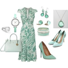 """""""Sea Foam and Silver"""" by theapatricia on Polyvore"""