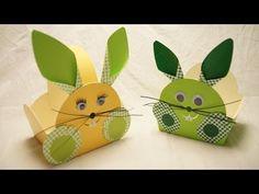 Osterkörbchen, Osterhase basteln zu Ostern... How to make an Easter Bunny Egg Basket - YouTube