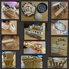 """Castles (and other creations) with play dough 'cement' from Rachel ("""",) Childcare Activities, Activities For Kids, Did Dragons Exist, Fairy Tale Theme, Fairy Tales, Role Play Areas, Traditional Tales, Dragon Tales, Block Play"""