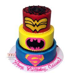 girl super hero cupcakes   Birthday Cakes   ABC Cake Shop - Part 6