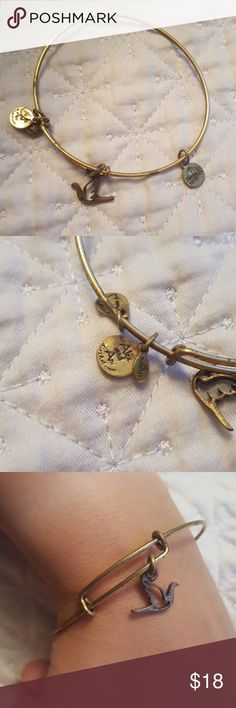 ALEX AND ANI RETIRED GOLD DOVE BRACELET Given as a gift, don't wear. I don't believe they're sold anymore. Will offer further discount if you bundle more than one Alex and Ani bracelet Alex & Ani Jewelry Bracelets