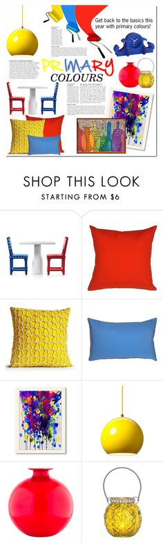 """Primary Colours"" by lgmrkm on Polyvore featuring interior, interiors, interior design, home, home decor, interior decorating, Anja, Moooi, Pillow Decor and American Flat"