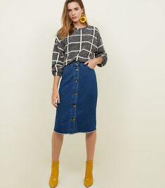 53ce977a9725f 125 meilleures images du tableau Jupes en jean   Couture tricot ...