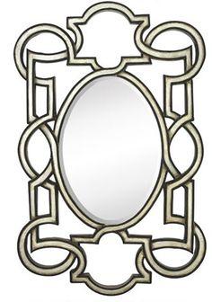 Majestic Mirrors Celtic Rectangular-Framed Oval Mirror