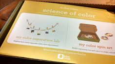 """Kiwi Crate April 2015 """"Science of Color"""" Review and Coupon 