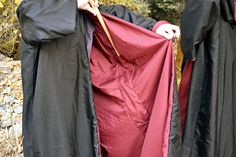 Example of pocket for wand inside robe