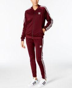 adidas Originals Supergirl Track Jacket   Pants Women - Women s Brands -  Macy s 9d089cee1b