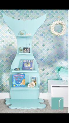 Ideas For Baby Girl Nursery Mermaid Room Ideas Little Mermaid Bedroom, Mermaid Room Decor, Mermaid Bathroom, Bathroom Kids, Bathroom Beach, Girl Nursery, Girls Bedroom, Bedroom Ideas, Nursery Ideas
