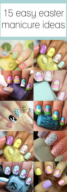 Nails as pretty as an easter egg pastel. Looking for the perfect Easter manicure? This post has 15 adorable and easy ideas! nails 15 Easy Manicure Ideas for Easter Easter Nail Designs, Easter Nail Art, Polish Easter, Simple Nail Designs, Nail Art Designs, Nagel Gel, Super Nails, Diy Nails, Manicure Ideas
