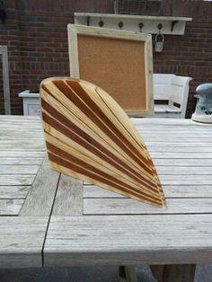 """"""" Bite Me """" D fin.   Wooden  surfboard fin"""
