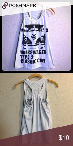 "Volkswagen Racerback Tank Top Racerback tank top with vw bus graphic. Tank reads ""Volkswagen Type 2 Classic Car"". In excellent condition. No tags. Fits like a medium or a small. Tops Tank Tops"