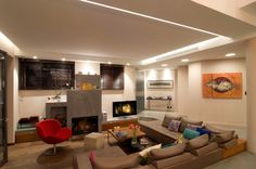 Plaster, Lighting Design, Concrete, Fire, Flooring, Dining, Living Room, Interior Design, Architecture