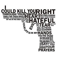 I tried to read the words but got lost on how its shaped like a gun. The Words, Images And Words, Greek Words, Genesis Creation, Heart Bit, Gun Quotes, Silent Words, Bring Me Down, You're Dead