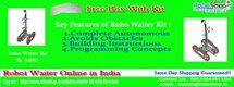 Robot Waiter at your service!! To buy this Robo Waiter Kit  online in India click at http://www.roboshop.in/robo-waiter-kit Feel free to contact us at 08510044813 for any query about Arduino Kits.