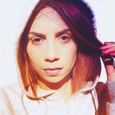 Cabelo roxo | Cabelo roxo e laranja | cabelo colorido | Fiama Pereira  www.fiamapereira.com