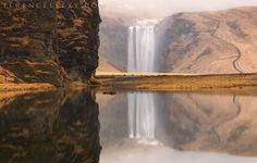 """""""Skógafoss Reflection"""" by Terence Leezy (https://500px.com/photo/107462141/sk%C3%B3gafoss-reflection-by-terence-leezy)"""
